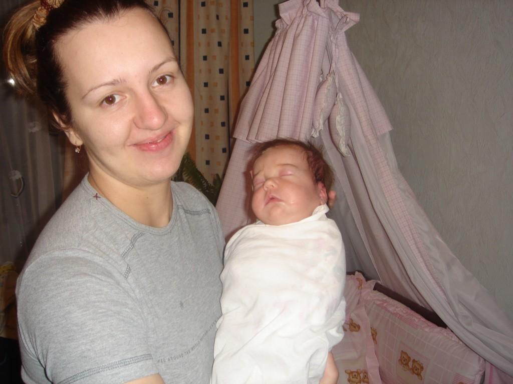 Мама Яна с дочкой Аней
