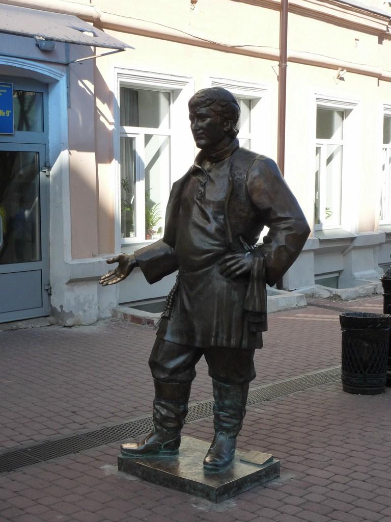 Нижний Новгород, улица Большая Покровская, скульптура «Половой»
