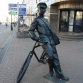Нижний Новгород, улица Большая Покровская, скульптура «Почтальон»